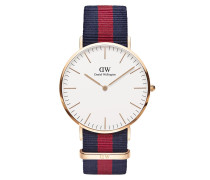 Uhr Classic Oxford 40 mm Blue Red