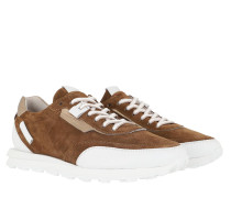 Sneakers Icon Sneaker Suede Bourbon Bianco