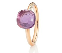Ring Happy Holi Violet Amethyst Cabochon