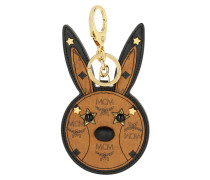 Animal Rabbit Mirror Charm Cognac