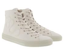 Snake Hightop Sneakers White Sneakerss
