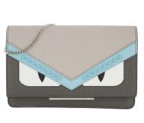 Wallet on a Chain Grey / White Umhängetasche