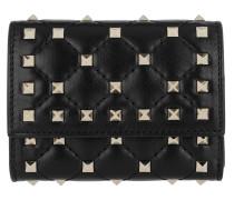 Rockstud Spike Card Holder Black