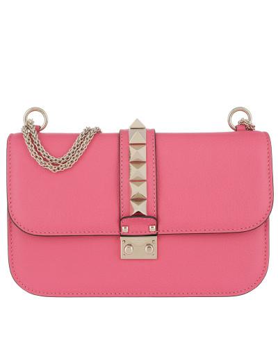 Mit Mastercard Online Valentino Damen Rockstud Lock Shoulder Bag Medium Bright Tasche Auslass 100% Original Spielraum Countdown-Paket Spielraum Heißen Verkauf d525rmA