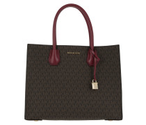 Mercer LG Conv Tote Brown/Mulberry