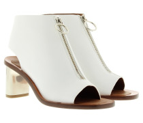 Open Toe Bootie Optic White