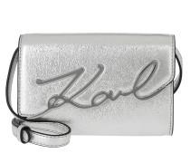 Gürteltasche Signature Metallic Belt Bag Silver