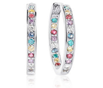 Ohrringe Corte Earrings Multicoloured Zirconia 925 Sterling Silver