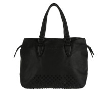 Yamagata Double Dye Studs Handle Bag Ninja Black Tote
