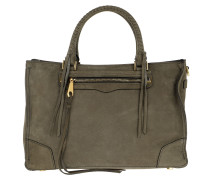 Regan Satchel Nubuck Tote Bag Olive