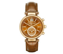 Sawyer Ladies Watch Brown/Gold Armbanduhr braun