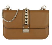 Rockstud Lock Umhängetasche Bag Medium Bright Cuir