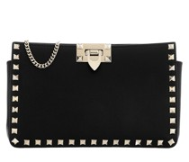 Umhängetasche Rockstud Clutch Leather Black