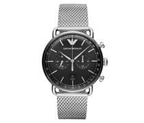 Uhr AR11104 Mens Dress Watch Black/Silver
