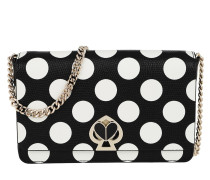 Umhängetasche Nicola Embossed Bikini Dot Twistlock Chain Wallet Black Multi