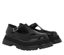 Sandalen Patent T-Bar Sandals Leather Black