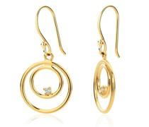 Ohrringe 14KT (585) Diamond Earrings