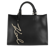 K/Signature Shopper Black Umhängetasche