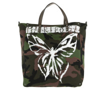 Mariposa Camouflage Tote Canvas Army Green/White