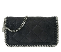 Falabella Quilted Clutch Navy