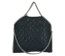 Falabella Shaggy Deer Quilted Small Tote Navy