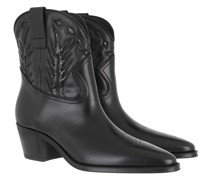Boots Western Ankle Calfskin Black