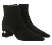 Boots Crystal Ankle Suede Black