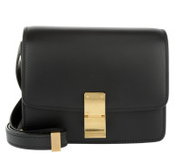 Small Box Bag Calfskin Black Clutch