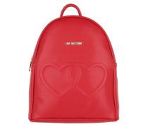 Branded Backpack Red Rucksack