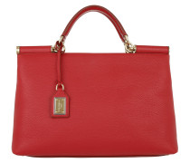 Sicily Tote Bag Rosso Satchel