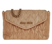 Umhängetasche Shoulder Bag Leather Beige