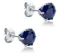 Ohrringe 9KT Created Sapphire Earring