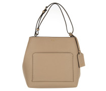 Bryant Park Soft Saffiano North/South Tote Natural