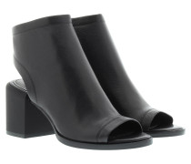 Ember Glazed Goat Leather Booties Black