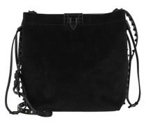 Beuteltasche Medium Bucket Bag Leather Black
