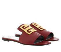Sandalen 4G Sandals Grained Leather Red