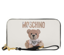 Zip Around Wallet Teddy Fantasia Bianco Ottico