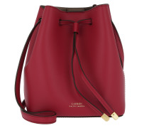 Debby Smooth Drawstring Crimson/Truffle