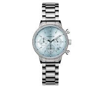 Uhr Ladies Chronograph Watch Sunray Silver