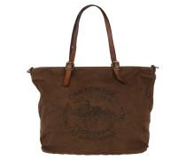 Shopping Bag Grande Tess Militare/Cognac Umhängetasche braun