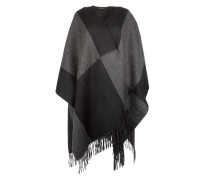 Schal - Poncho Wool Anthracite/Black