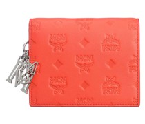 Portemonnaie Klara Two-Fold Wallet Leather Mini Hot Coral