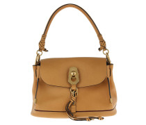 Small Owen Bag With Flap Smooth + Suede Calfskin Softy Brown Umhängetasche rot