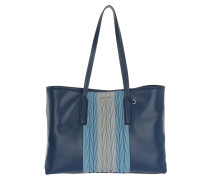 Shopping Bag Soft Calf/Nappa Bluette Umhängetasche