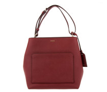 Bryant Park Soft Saffiano Leather Tote Scarlet