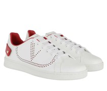 Sneakers V Low Sneaker White/Red
