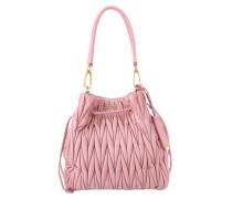 Tasche - Matelassé Bucket Bag Rosa