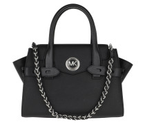 Tote Carmen SM Flap Satchel Bag Black