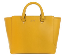 Geras Shopper Saffiano Small Yellow Tote gelb