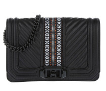Jacquard Small Love Umhängetasche Bag Black